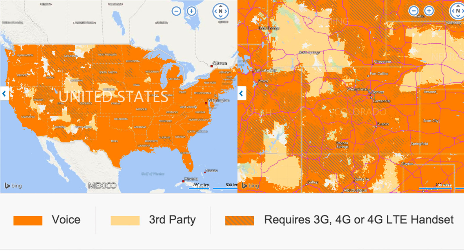 at&t fleet management signal coverage map