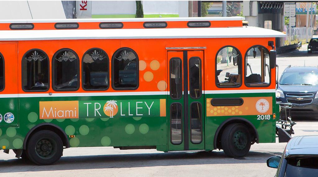 Public transportation Miami trolley